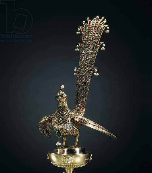 Bird of paradise (huma) from Tipu Sultan's throne, c.1787-91 (mixed media)
