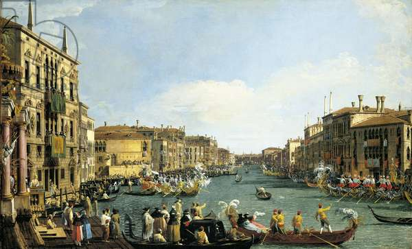 A Regatta on the Grand Canal, c.1733-34 (oil on canvas) (pair to 399107)