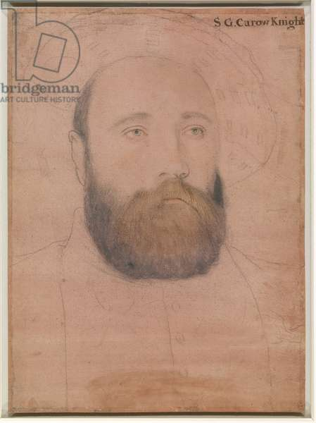 Sir George Carew (chalk & metalpoint on paper)