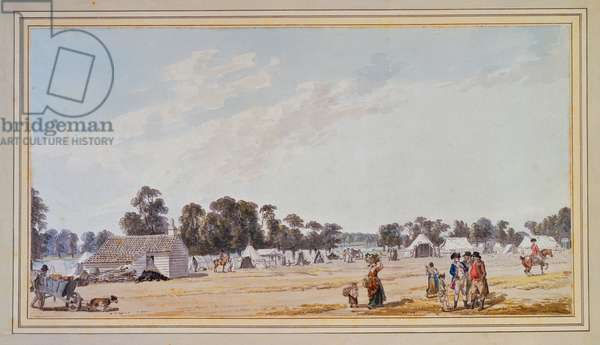 View near the Serpentine River during the Encampment, 1780 (w/c on paper)