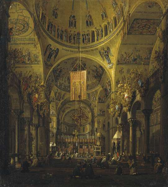 Venice: the interior of S. Marco by day, c.1755-56 (oil on canvas)