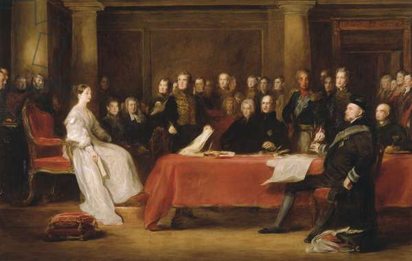 The First Council of Queen Victoria, 1838 (oil on canvas)