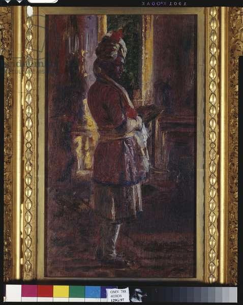 The Munshi Abdul Karim, 1887 (oil on panel)