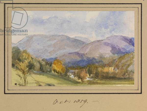A Highland Landscape, October 5th, 1859 (pencil & w/c on paper)