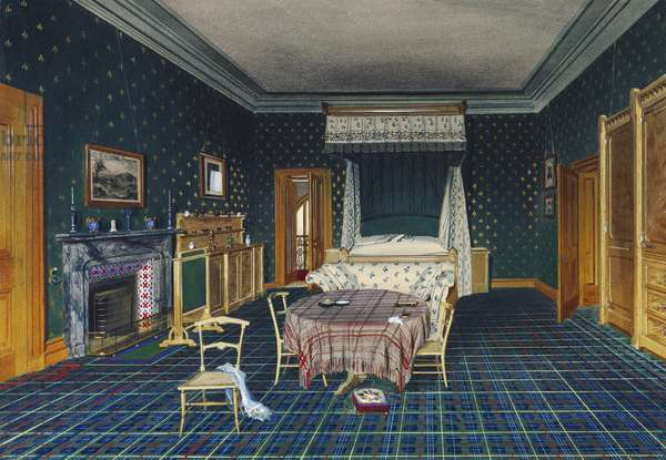 Balmoral Castle: The Queen's Bedroom, 1857 (w/c on paper)