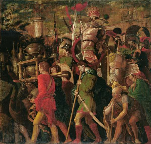 The Triumphs of Caesar 6, The Corselet-Bearers, c.1484-92 (tempera on canvas)