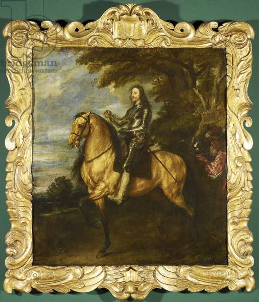 Charles I on horseback, c.1635-36 (oil on canvas)