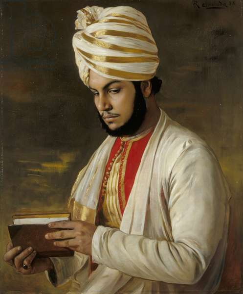 The Munshi Abdul Karim, 1888 (oil on canvas)