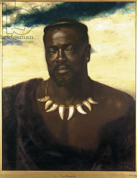 Cetshwayo, King of the Zulus, 1882 (oil on canvas)