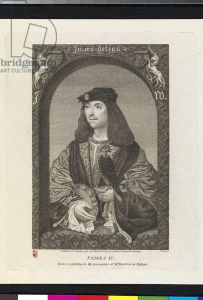 James IV, plate from John Pinkerton's 'Iconographia Scotica, or, Portraits of Illustrious Persons of Scotland', 1796 (engraving with etching)