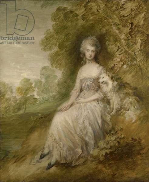Mrs. Mary Robinson, 1782 (oil on canvas)