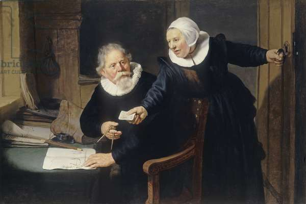 Portrait of Jan Rijcksen and his wife, Griet Jans (The Shipbuilder and his Wife) 1633 (oil on canvas)