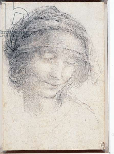 Head of St. Anne, c.1510-15 (chalk on paper)