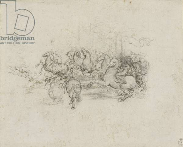 A cavalcade, c.1503-4 (chalk on paper)