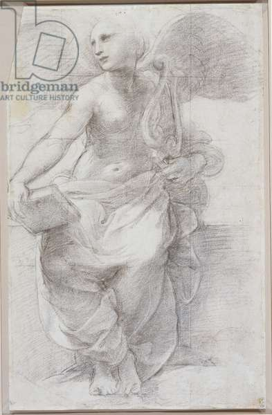 Allegorical figure of Poetry, c.1509-10 (chalk over stylus on paper)
