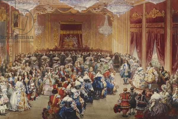 The Stuart Ball at Buckingham Palace, 13 June 1851 (w/c & bodycolour on paper)