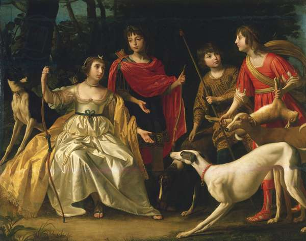 The four eldest children of the Queen of Bohemia, 1631 (oil on canvas)