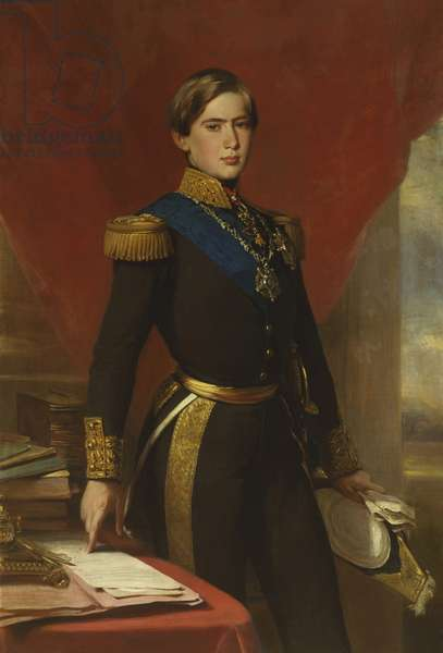 Pedro V, King of Portugal, 1854 (oil on canvas)