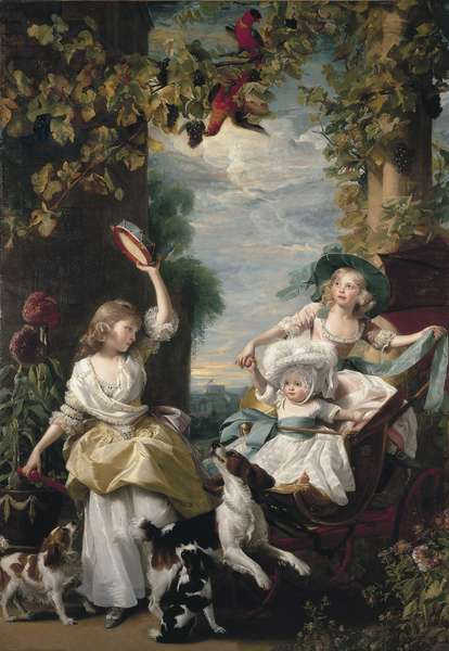 The three youngest daughters of George III, 1785 (oil on canvas)
