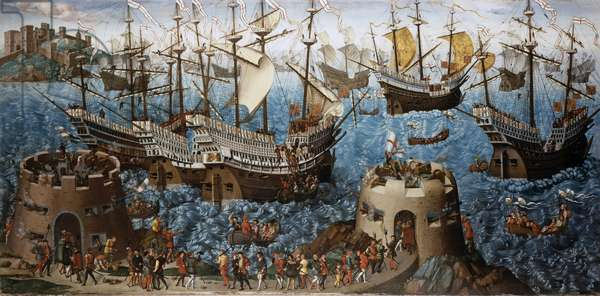 The Embarkation of Henry VIII, c.1520-40 (oil on canvas)