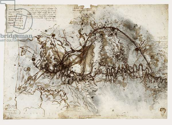 A Scheme for a canal to bypass the Arno, c.1503 (brush & ink over black chalk on paper)