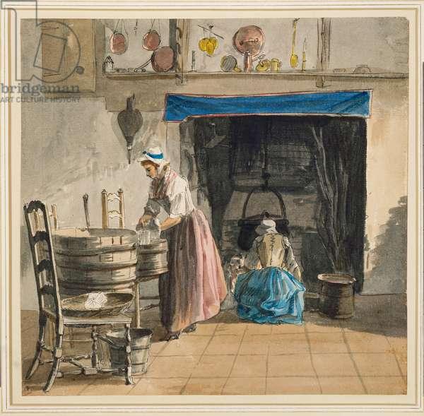 At Sandpit Gate c.1752 (pencil, pen & ink & w/c on paper)