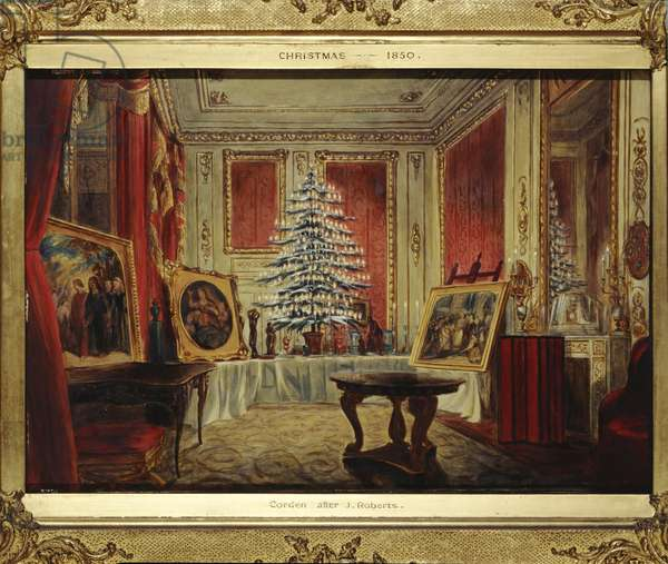 Queen Victoria's Christmas Tree, 1851 (oil on panel)