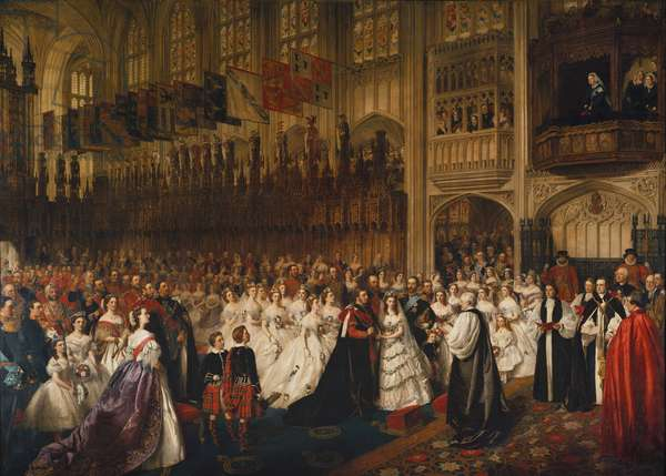 The Marriage of the Prince of Wales with Princess Alexandra of Denmark on the 10th March 1863, 1865 (oil on canvas)
