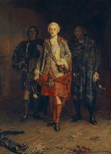 Bonnie Prince Charlie entering the ballroom at Holyroodhouse, 1891-92 (oil on canvas)