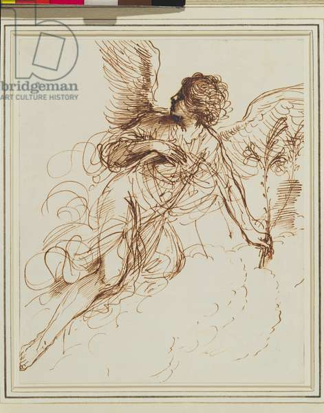 The Angel of the Annunciation, 1646 (pen & ink on paper)