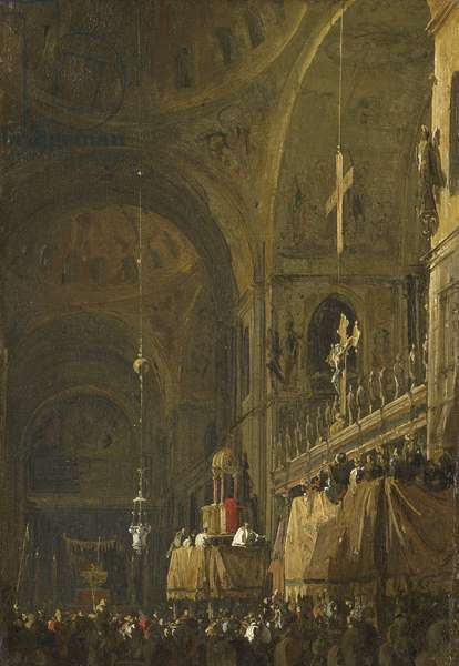 The Crossing of San Marco looking to the North Transept on Good Friday, c. 1725-30 (oil on canvas)