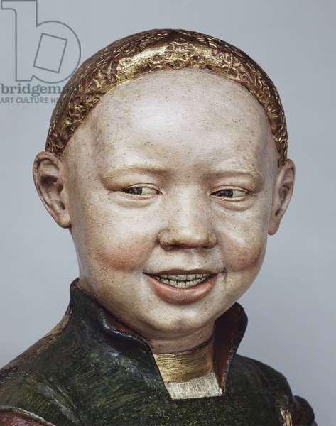 Henry VIII, c.1498 (painted & gilded terracotta) (detail of 1065304)