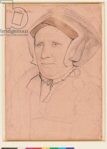 Margaret, Lady Butts, c.1541-43 (chalk, brush ink & metalpoint on paper)