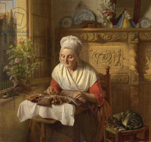 The Lace Maker, 1846 (oil on panel)