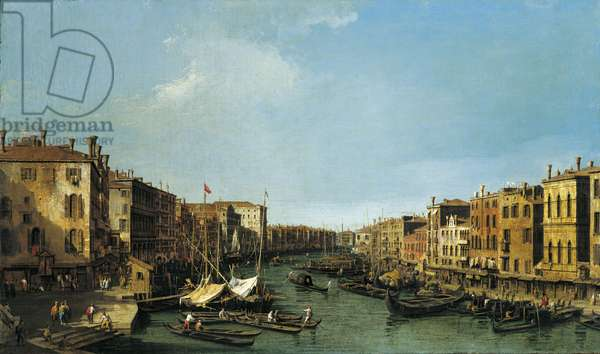 The Grand Canal looking south-west from the Rialto to Ca' Foscari, c.1725-26 (oil on canvas)