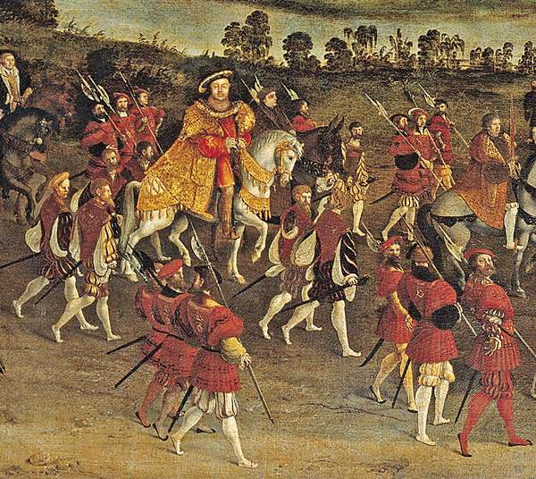 The Field of the Cloth of Gold, detail of Henry VIII c.1545 (oil on canvas)