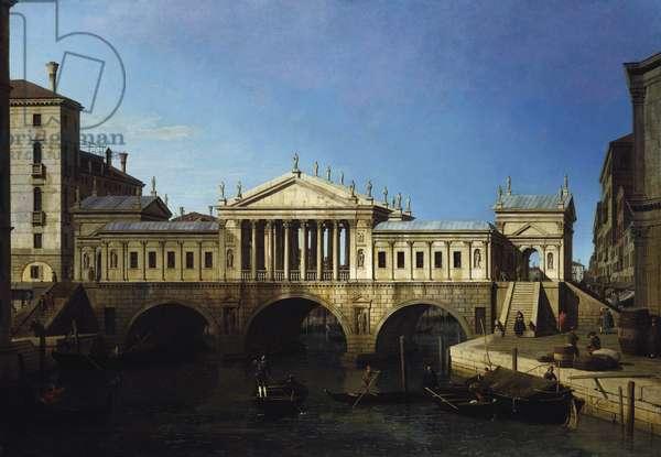 Venice: Caprice View with Palladio's Design for the Rialto, c.1743-44 (oil on canvas)