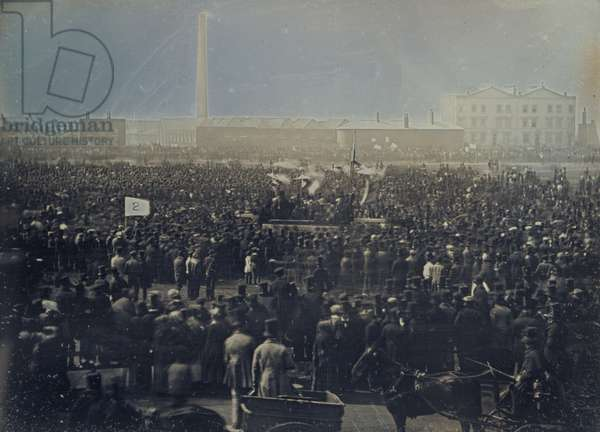 View of the Great Chartist Meeting on Kennington Common, 1848 (daguerreotype)