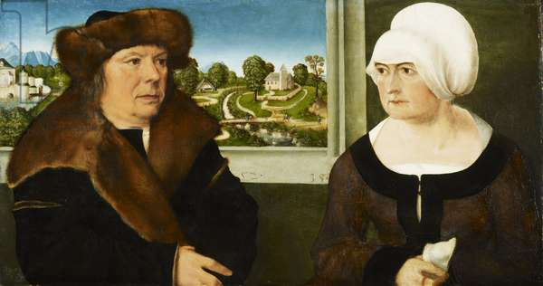 A Man and his Wife, 1512 (oil on limewood panel)