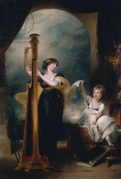 Caroline, Princess of Wales and Princess Charlotte, 1801 (oil on canvas)