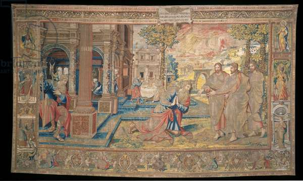 God appears to Abraham, from 'The Story of Abraham Series', 1543 (wool and silk tapestry with gilt metal-wrapped thread)