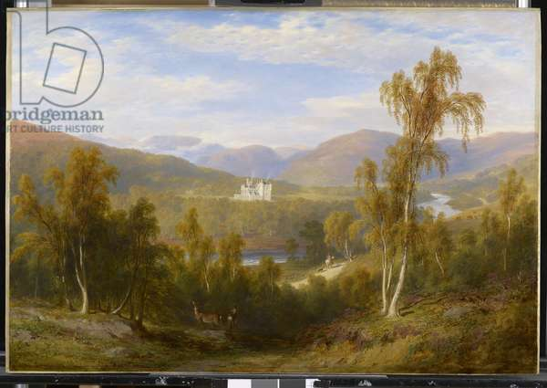 A View of Balmoral, 1848 (oil on panel)