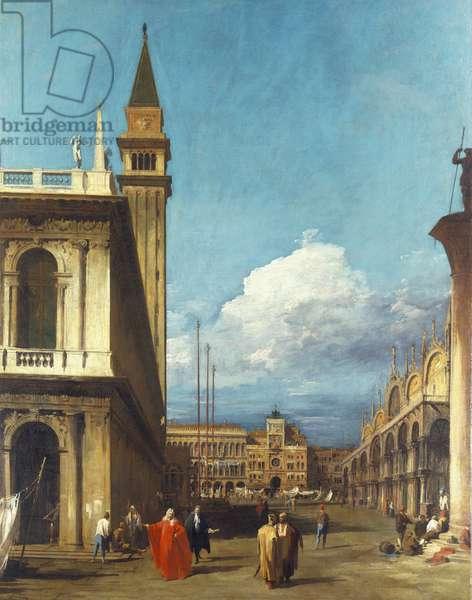 The Piazzetta towards the Torre dell'Orologio, Venice, 1729 (oil on canvas)