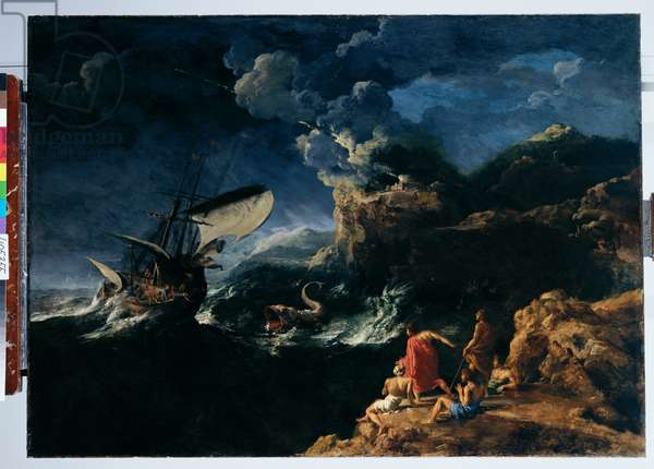 Seascape with Jonah and the Whale c.1653-54 (oil on canvas)