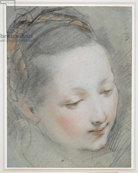 Head of the Virgin, c.1582 (chalk on paper)