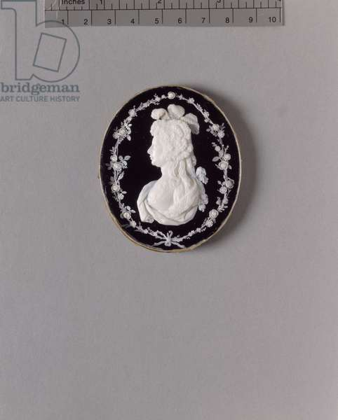 Charlotte, Princess Royal, c.1792-97 (ivory on backed glass & ebonised wood)