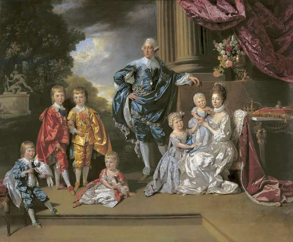 George III, Queen Charlotte and their six eldest children, 1770 (oil on canvas)