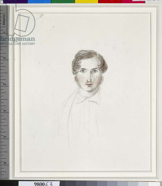 Portrait of Prince Albert, c.1840 (pencil, crayon, w/c, pen & ink on paper)