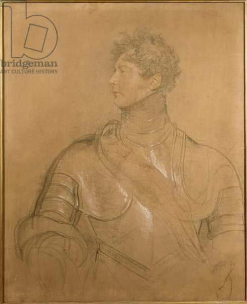 The Prince Regent, 1814 (red, black & white chalk on canvas)