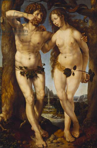 Adam and Eve, c.1520 (oil on panel)